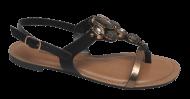 Sandália Rasteirinha Dakota Z3733 Preto | Dtalhe Calçados