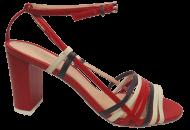 Sandália Salto Bloco Cristófoli 161384 Náutico | Dtalhe Calçados