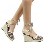 Sandália Zariff Shoes Plataforma Lace Up 7706-16227 | Betisa