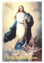 Santinhos de Oração Nossa Senhora da Conceição   SJO Artigos Religiosos