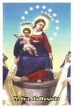 Santinhos de Oração Nossa Senhora do Rosário   SJO Artigos Religiosos