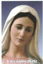 Santinhos de Oração Nossa Senhora Rainha da Paz   SJO Artigos Religiosos