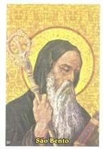 Santinhos de Oração São Bento   SJO Artigos Religiosos