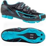 Sapatilha Absolute Mia Feminina MTB 3 Velcros Pto/azul-35
