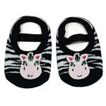 Sapatilha Antiderrapante Listrada - Zebra Carinhosa - Best Club Baby 0-4m