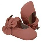 Sapatilha Maria Graça | Sapatilha para Bebê em Couro Genuíno - Rosé