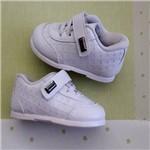 Sapato Bebê Masculino Branco 17 ( 07-08 M) Cadarço e Velcro Pimpolho