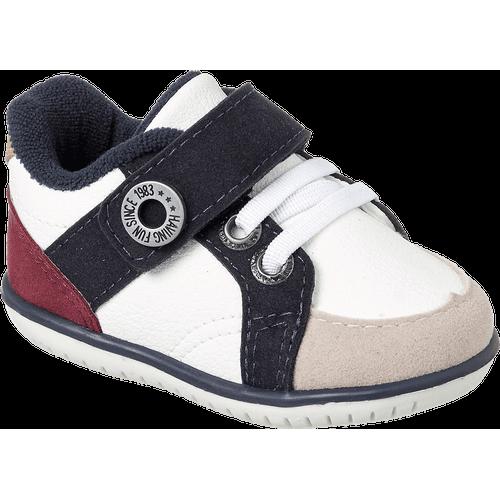 Sapato Cravinho Casual Branco e Marinho - 17