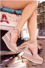 Sapato Feminino Anabela Caron Mundial CAM - BEGE 39