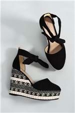 Sapato Feminino Anabela Caron Mundial CAM - PRETO 36