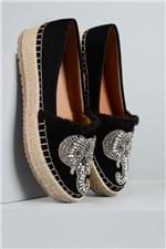 Sapato Feminino Espadrille Elefante Mundial NB - PRETO 36