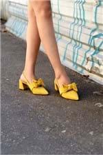 Sapato Feminino Salto Alto Tarcila Mundial NB- AMARELO 35
