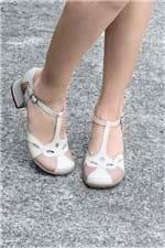 Sapato Feminino Salto Médio Maneva Mundial CR - OFF WHITE 39