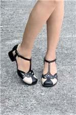Sapato Feminino Salto Médio Maneva Mundial CR-PRETO 38