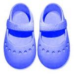 Sapato para Boneca – Modelo Sapatilha 7cm – Adora Doll - Azul Marinho – Laço de Fita