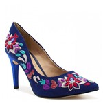 Sapato Tanara Scarpin Bordado Floral T1745 | Betisa