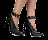 Scarpin Feminino Preto Tanara T2264 Bico Fino | Dtalhe Calçados