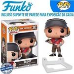 Scout Team Fortress Steam Funko Pop #247 + Suporte de Parede