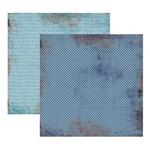 Scrap Basico Vintage Azul Poa KFSB204 Toke e Crie