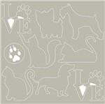 Scrap Embelezadores Cardboard Litoarte Scep-030 Aplique Cães e Gatos