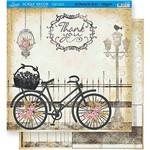 Scrapbook Folha Dupla Face Bicicleta Sd-368 - Litoarte