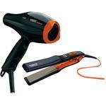 Secador Titanium Colors 2100W 110V + Chapa Titanium 450 Colors Bivolt - Taiff
