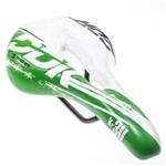Selim DDK 373 K30 Vazado Speed MTB Verde e Branco 322g