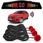 Sensor de Estacionamento Ré Fiat Cronos 2018 Vermelho Alpine