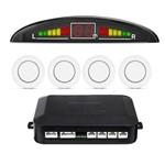 Sensor Estacionamento Ré 4 Pontos Branco Universal Display