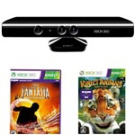 Sensor Kinect Xbox 360 Mostruário + Game Xbox 360 Disney Fantasia: Music Evolved + Game Xbox 360 Kinectimals