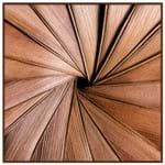 Série Texturas I Quadro 59 Cm X 59 Cm Marrom/marrom