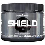 Shield Pure Glutamine 100g - Black Skull + Luva Caleira