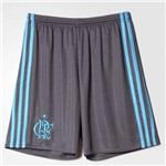 Short Calção de Goleiro Flamengo Adidas 2016 Cinza e Azul - AI7780