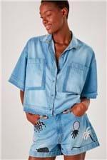 Short Cantão Jeans a Silks - Azul