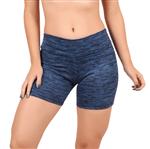 Short Fitness Curto Estampado Feminino Azul Marinho / P