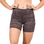Short Fitness Curto Estampado Feminino (Lilás) P
