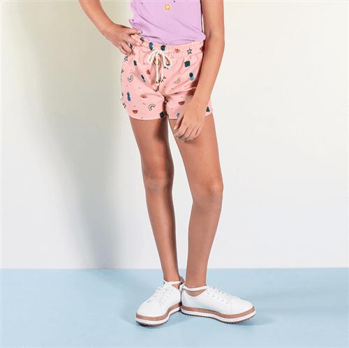 Short Geo Colore Rosa Chiclete/10 e 12