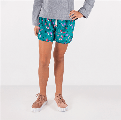 Short Hello Girl Verde/12 e 14