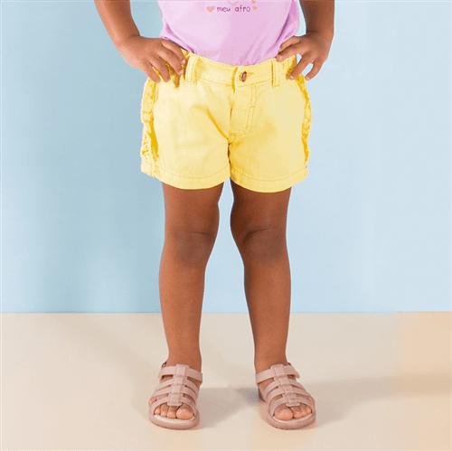 Short Isla Bonita Amarelo/1 e 2