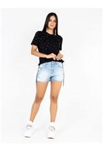 Short Jeans Bordado Franja - 36