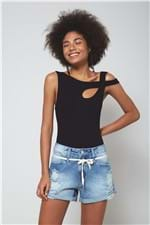 Short Jeans Cadarço Cos Jeans - 40