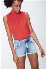 Short Jeans Cintura Alta Feminino