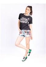 Short Jeans com Patchs - 36