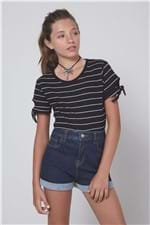 Short Jeans Julia Básico Jeans - 10