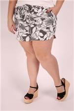 Short Moletinho Estampado Plus Size Preto P