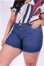 Short S Jeans com Puìdos Plus Size 50