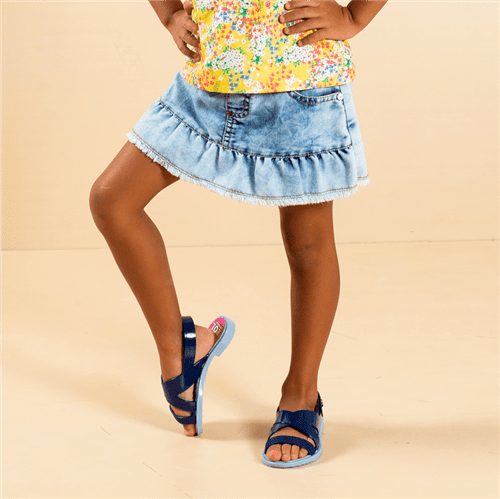 Short-saia Jardim Jeans/1 e 2