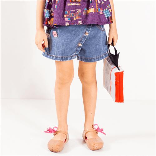 Short Saia Ler e Divertido Jeans/1 e 2