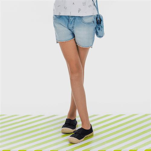 Short Sereia e Seus Amigos Jeans/12