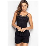 Shortdoll de Alca com Top de Renda - Black J8 Gg